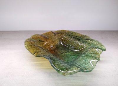 misa szklana zielono brązowa