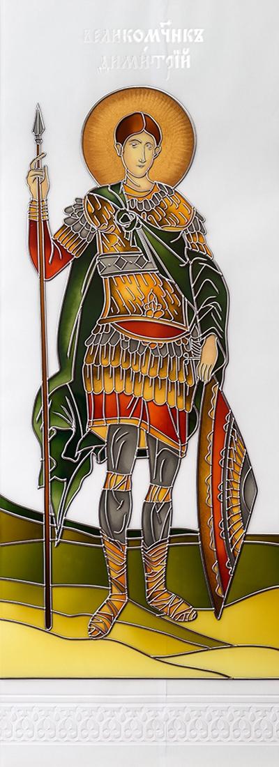 św. Dimitr Witraż malowany