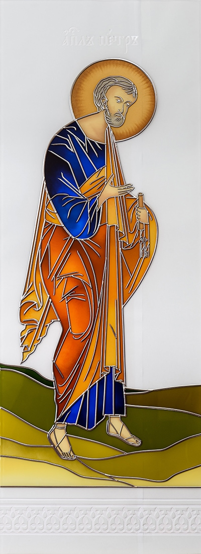 św. Piotr Witraż malowany