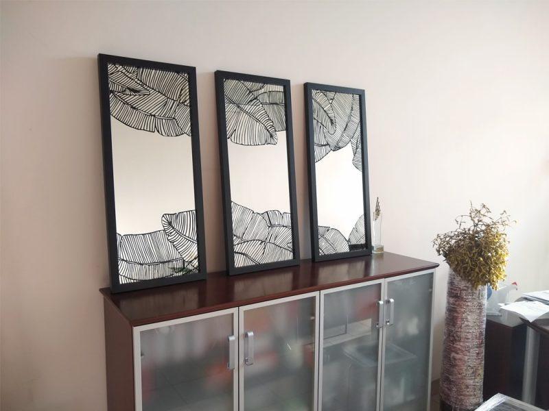 """dekoracyjne lustro """"Czarny Liść"""""""